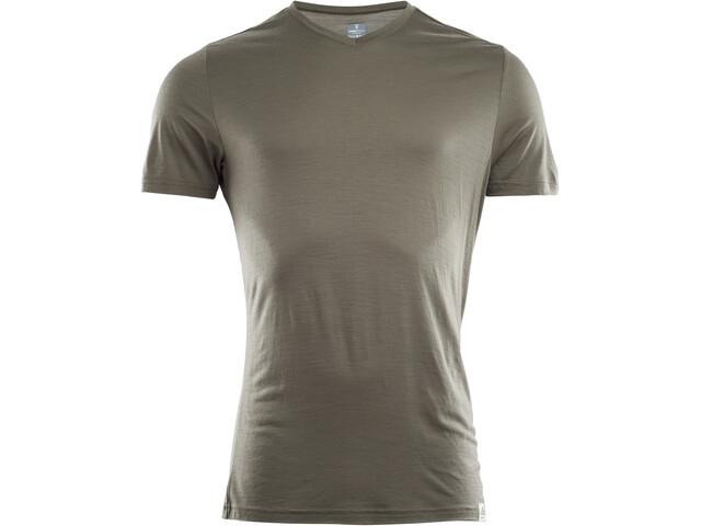 Aclima LightWool V-Neck T-Shirt Men ranger green